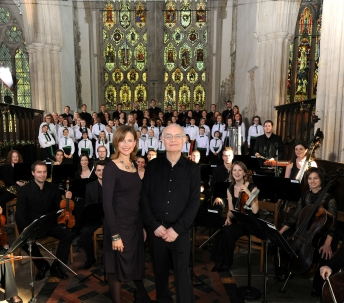 Recording of 'John Rutter's Nativity' in Dorchester Abbey, Oxfordshire on Sunday 2 October 2011. Photo by Mark Allan/BBC